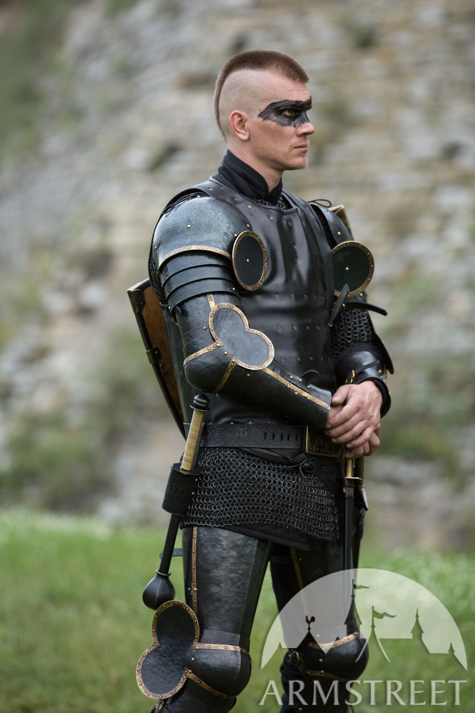 """""""The Wayward Knight"""" Arm Harness And Pauldron Set For Sale"""