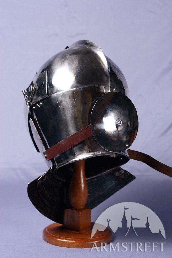 Armet Knight Helmet - 14 ga cold-rolled (mild) steel for ... Medieval Knights Armor