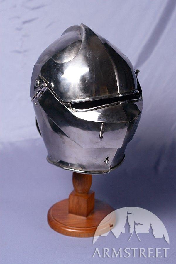 Armet Knight Helmet 14 Ga Cold Rolled Mild Steel For