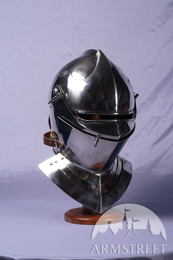 Armet Knight Helmet 14 Ga Cold Rolled Mild Steel For