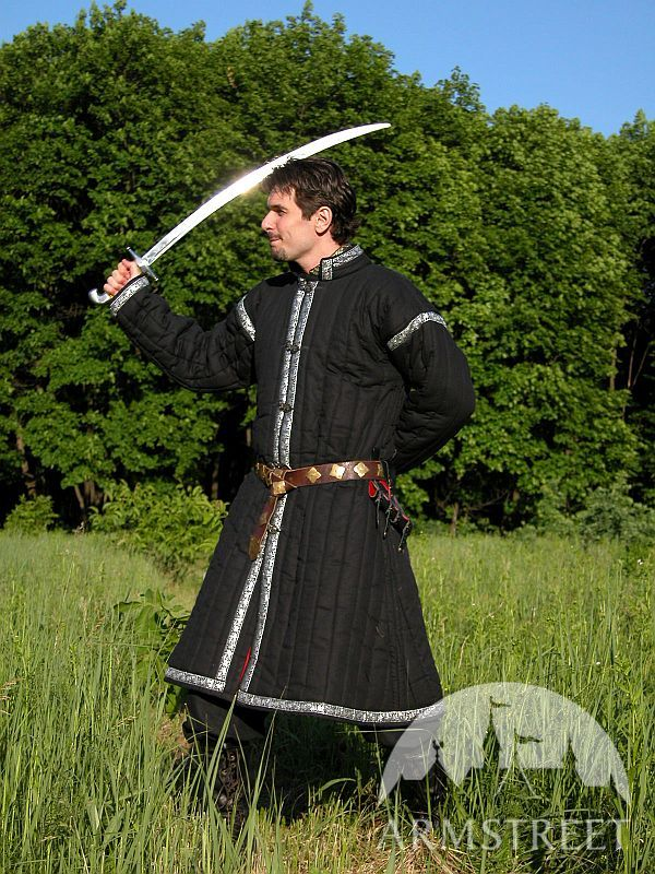 Long cotton padded Asian gambeson