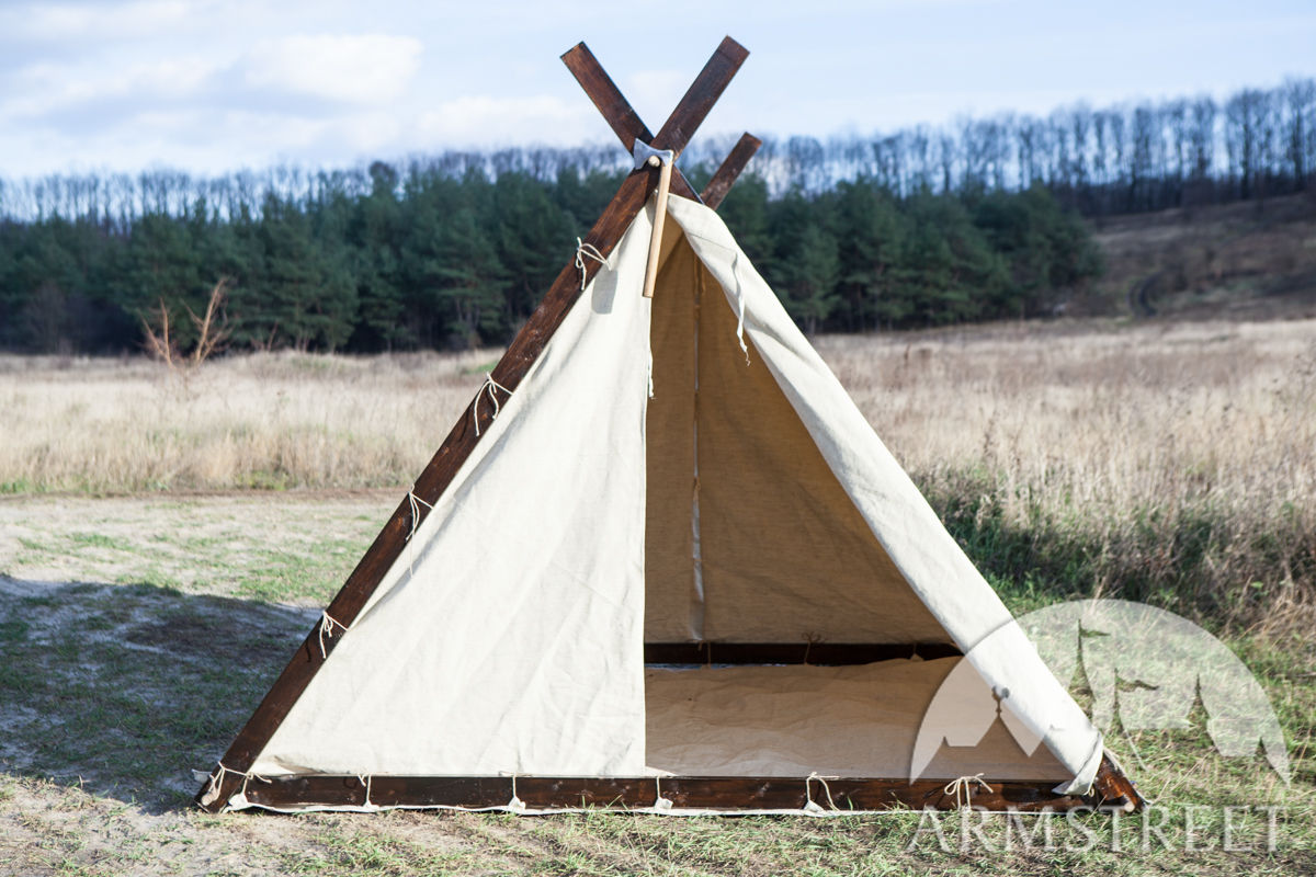 canvas viking tent available in light canvas by medieval store armstreet. Black Bedroom Furniture Sets. Home Design Ideas