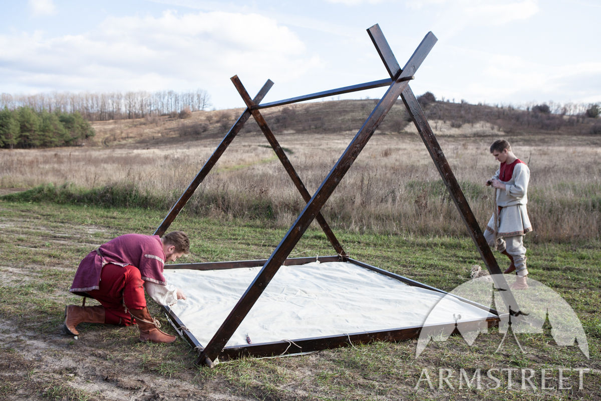 Wooden Frame for Medieval Canvas Viking's Tent