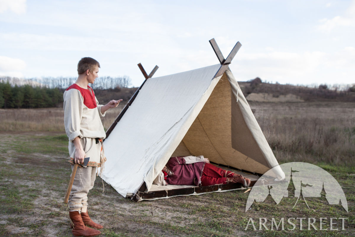 Canvas viking tent available in light canvas by for How to build a canvas tent frame