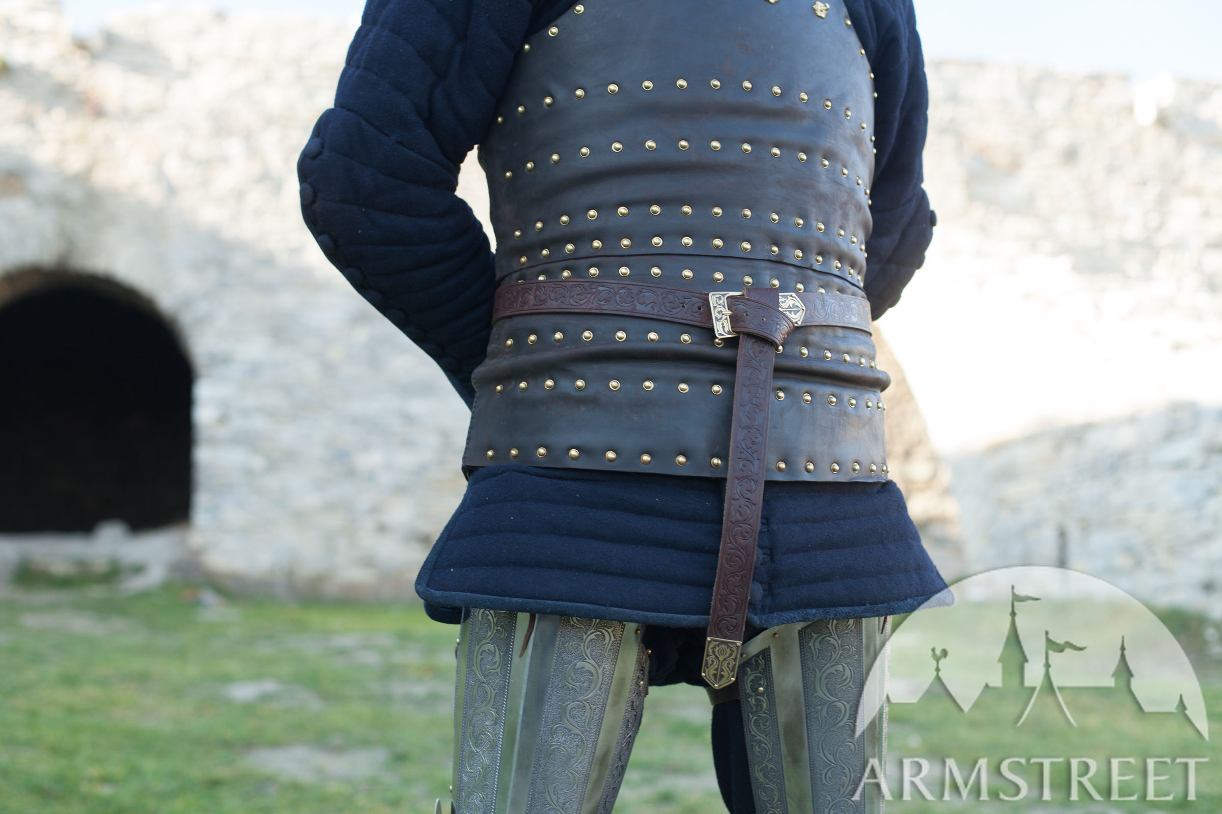 Embossed Leather Belt Knight Of Fortune Available In
