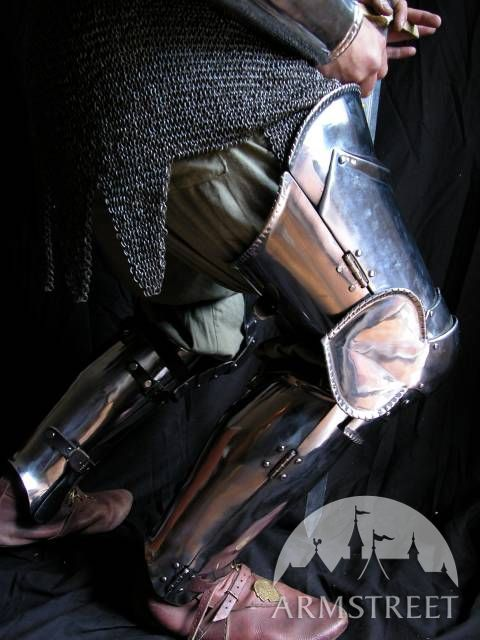 Stainless Knight Full Leg Armor Thigh Plates Knee Cops