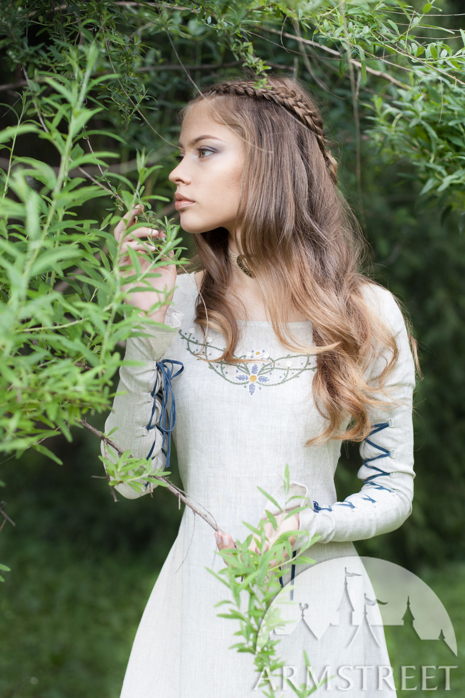 �fairy tale� linen dress available in green flax linen