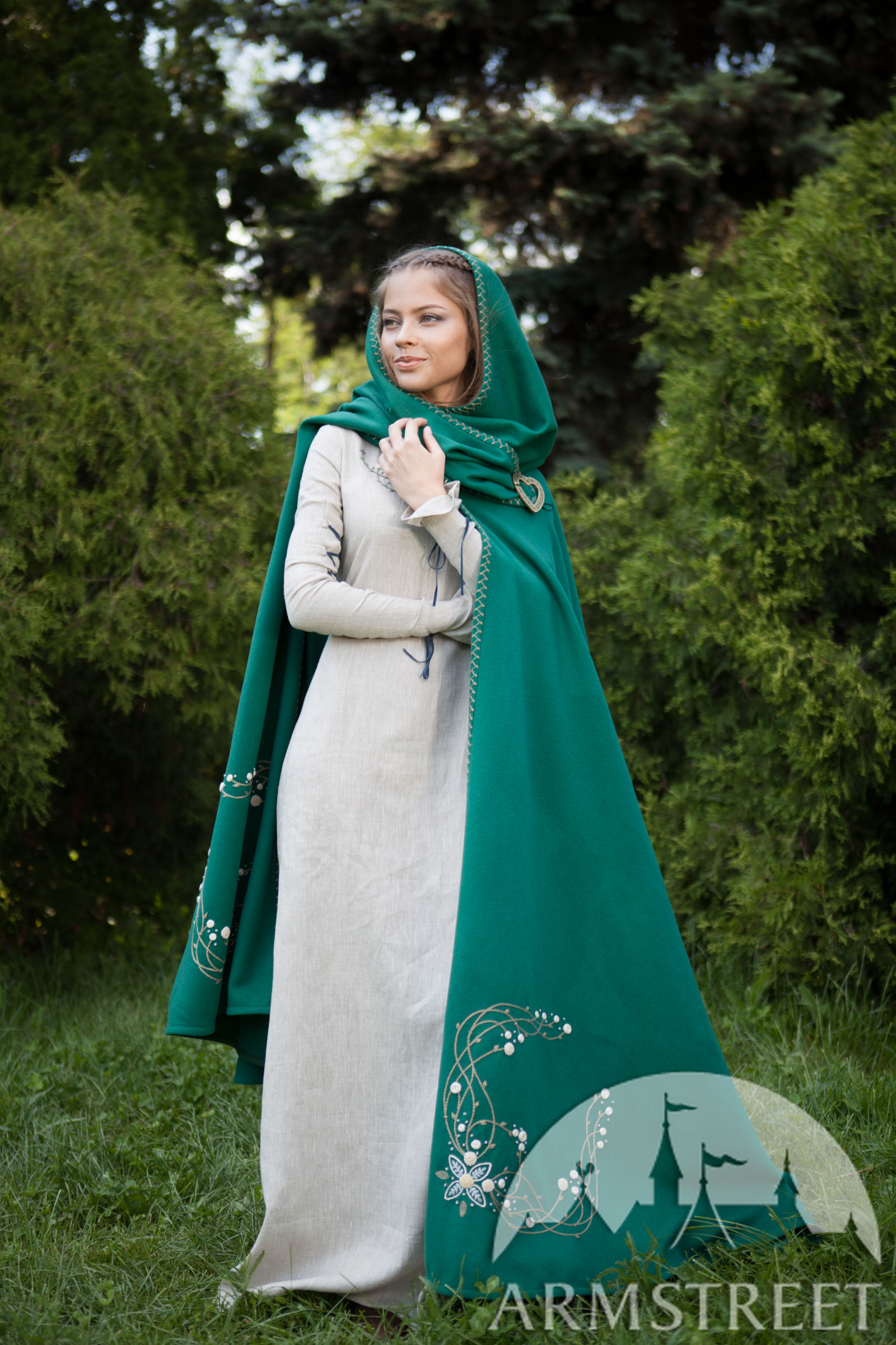 Fairy Tale Woolen Cloak Available In Ivory Wool Grey