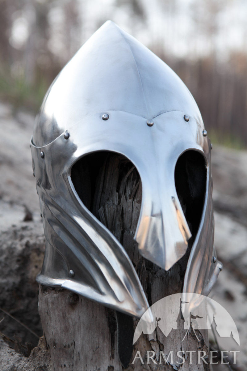 Fantasy Elven Fluted Helmet For Sale Available In Mild