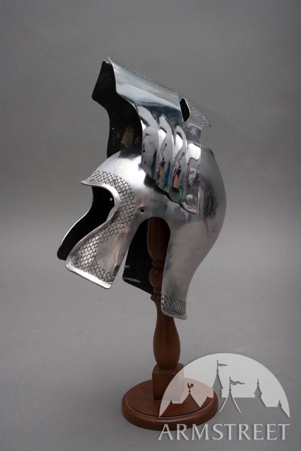 fantasy functional armor barbuta helmet for sale