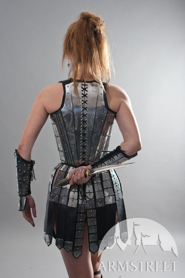 Lady-warrior fantasy armour corset and skirt