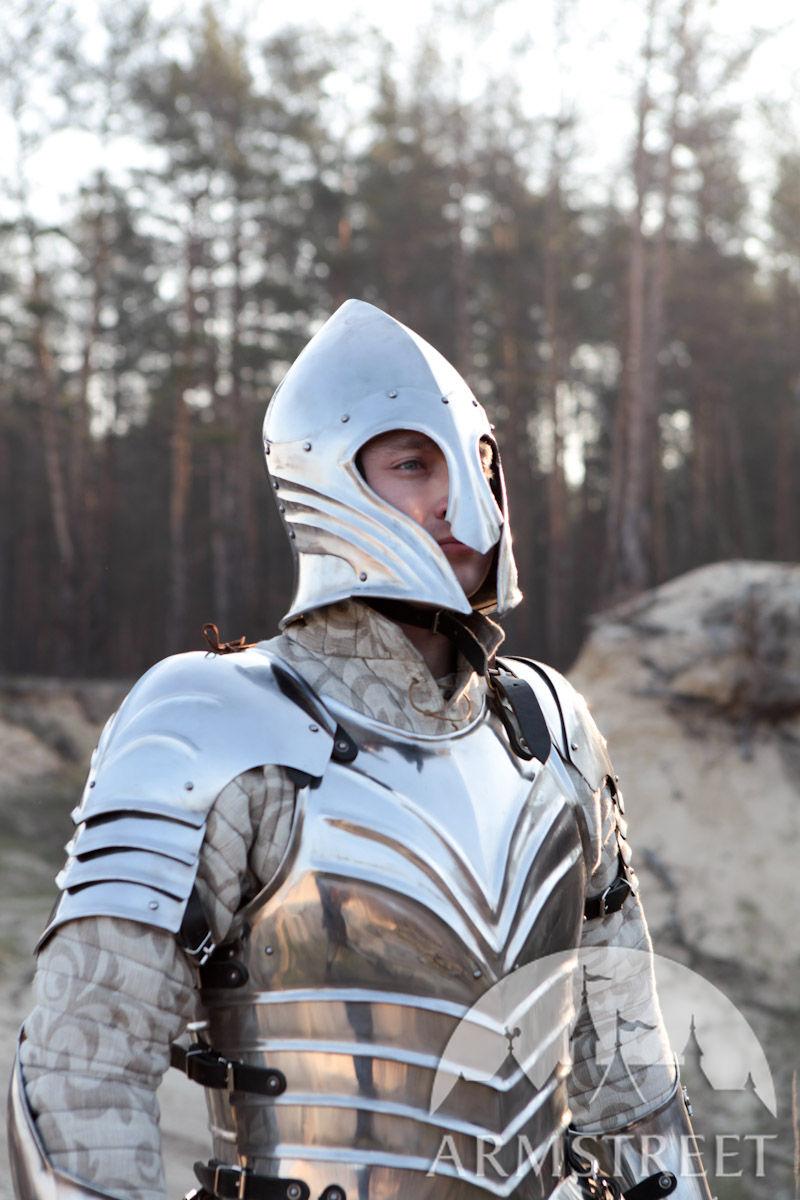Elven Prince Fluted Fantasy Pauldrons Spaulders Armor for