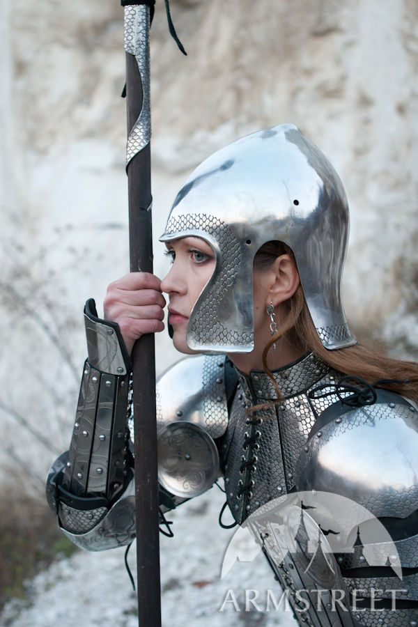 Langobard warrior with lamellar helmet... Pictures | Getty Images