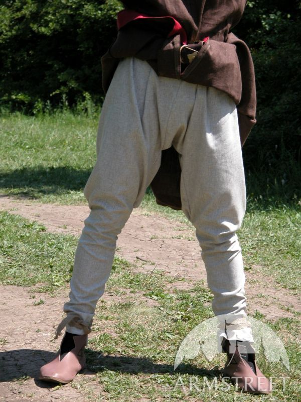 medieval norman natural flaxlinen pants sca for sale