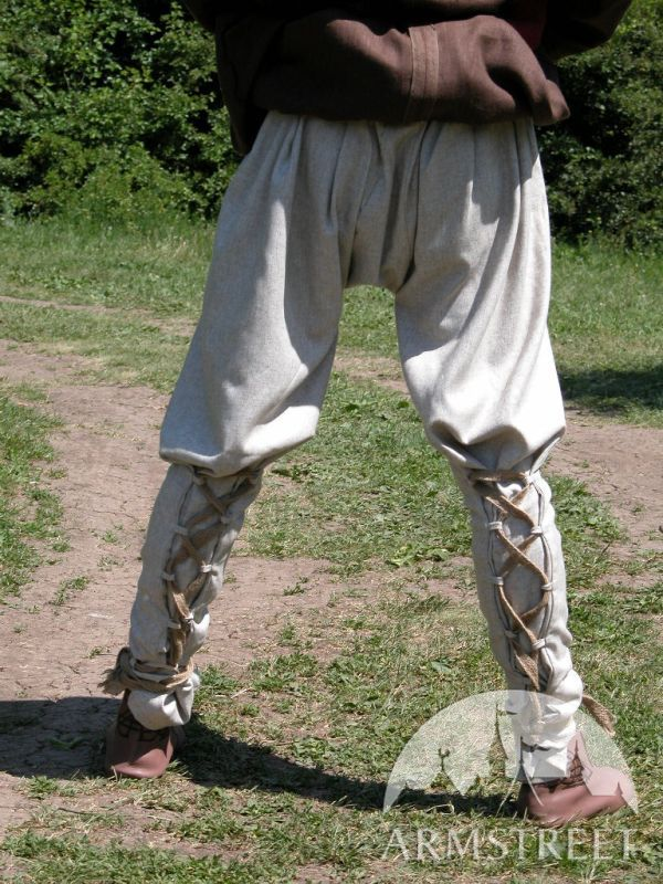 Medieval Norman Natural Flax Linen Pants Sca For Sale