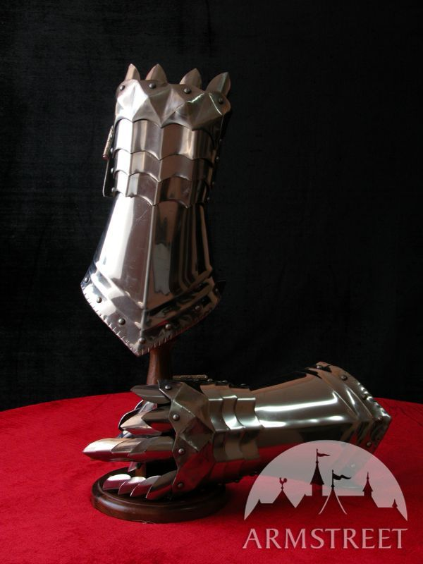 Gothic armor full knight armor suit - armour finger gauntlets