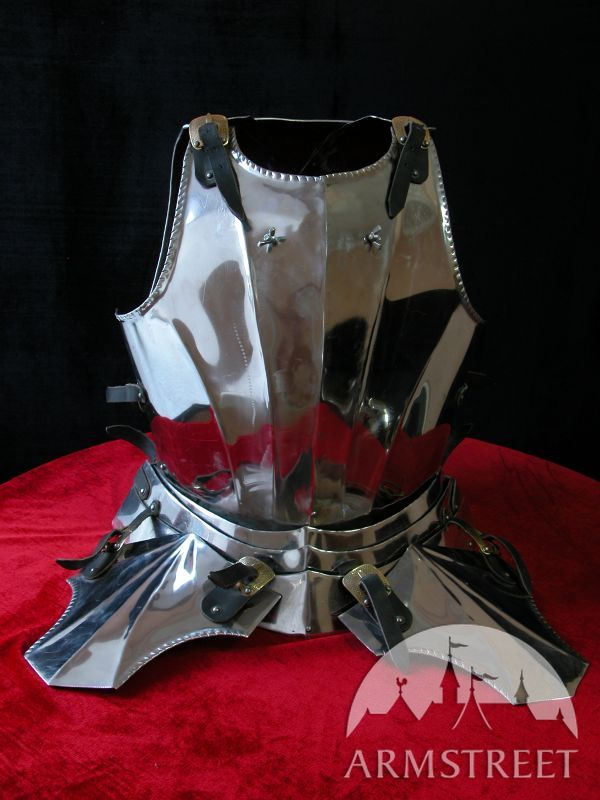 Gothic knight armor gorget SCA medieval