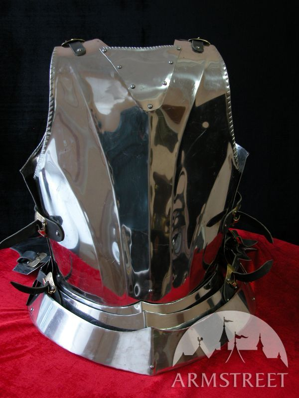 Medieval Gothic Style Cuirass With Back Plate For Sale Available In Mirror Polishing Satin