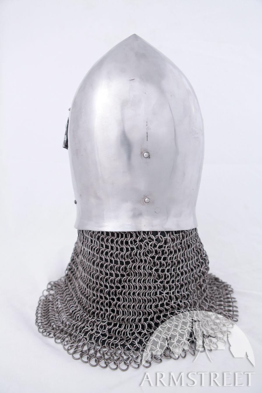 Great Quality Handmade 14 Ga Grand Bascinet Helmet For