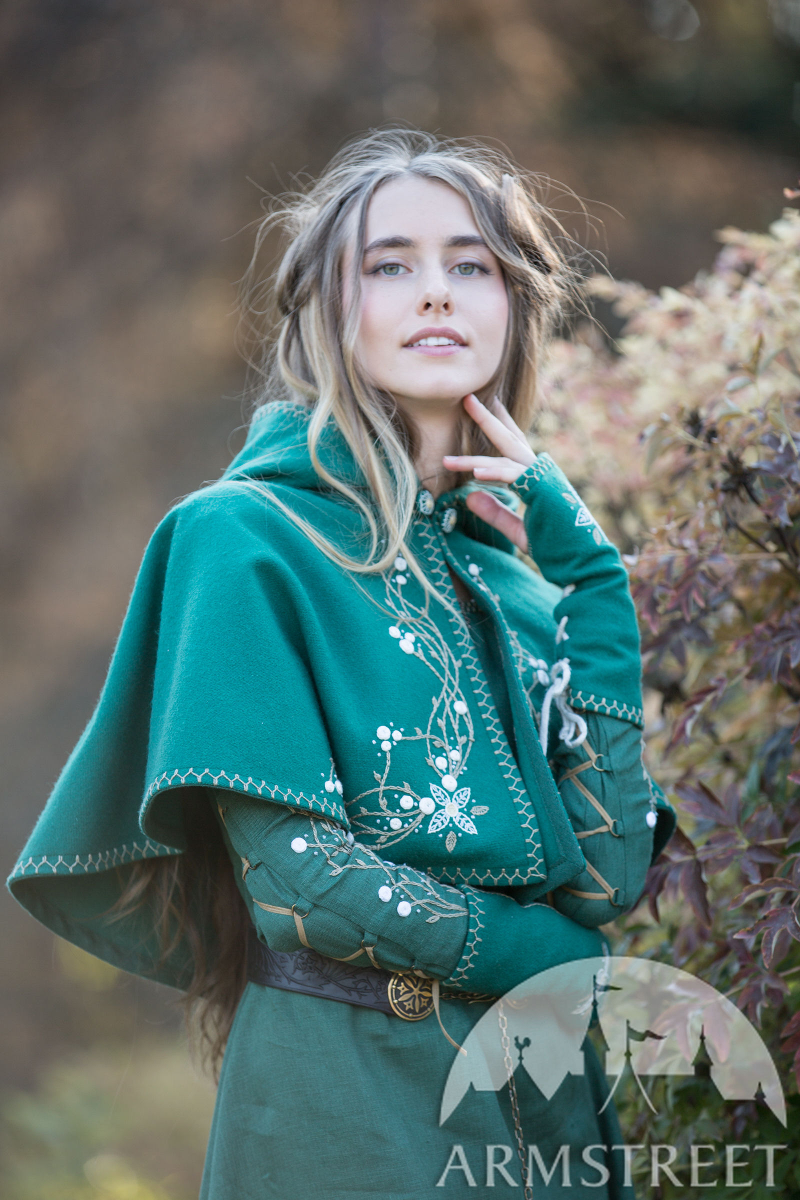Woolen Hood With Handmade Embroidery Fairy Tale For Sale