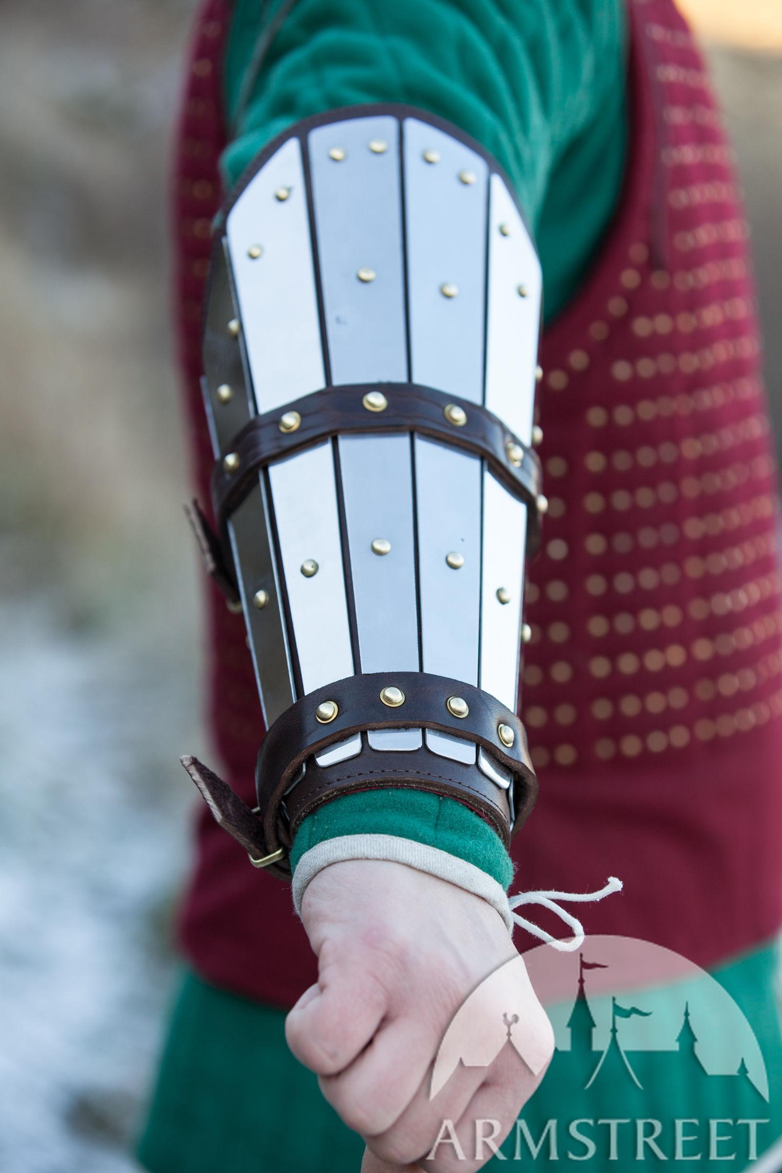 Handmade Medieval Splint Combat Bracers For Sale