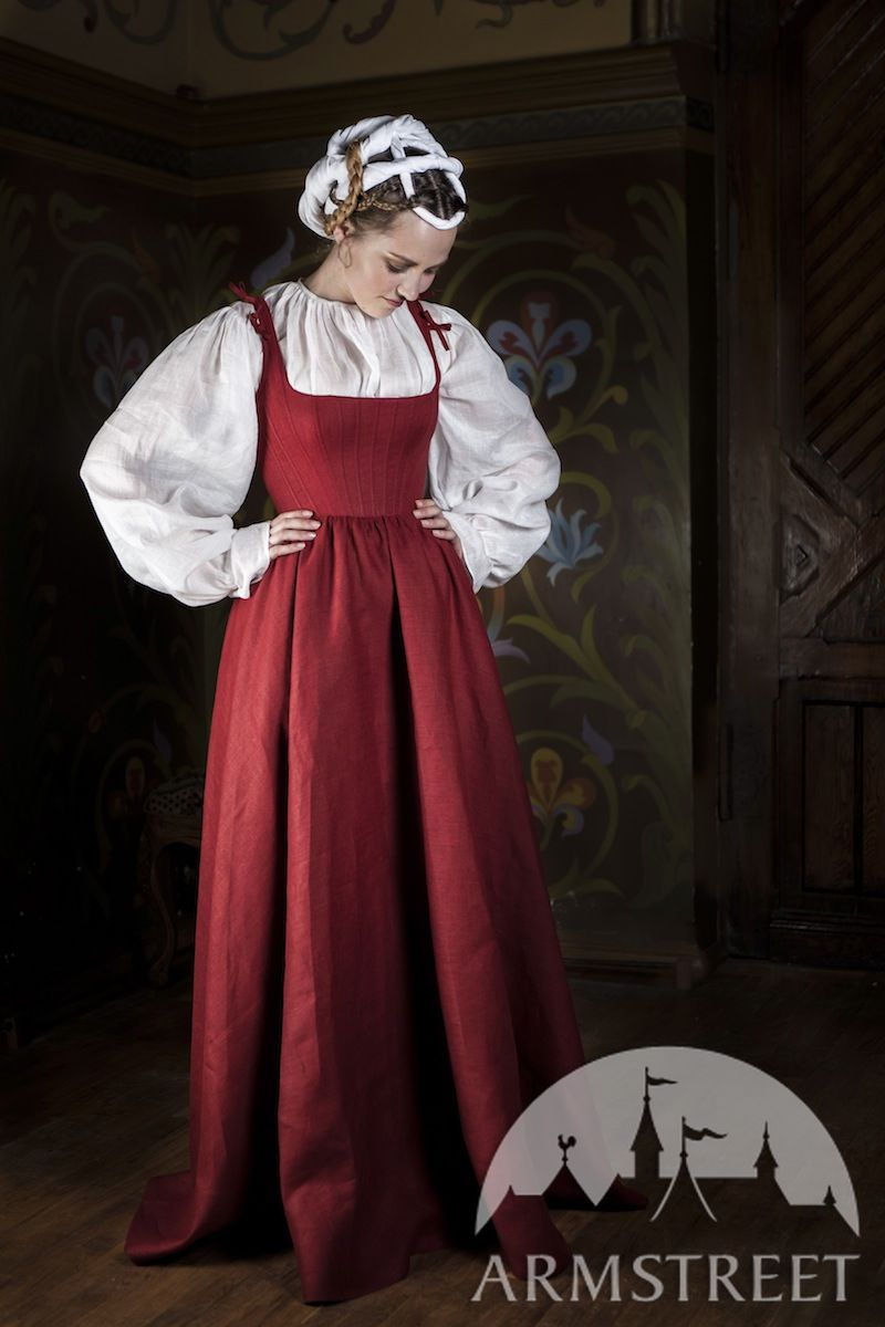 Kirtle Medieval Dress Traditional Garb. Available In