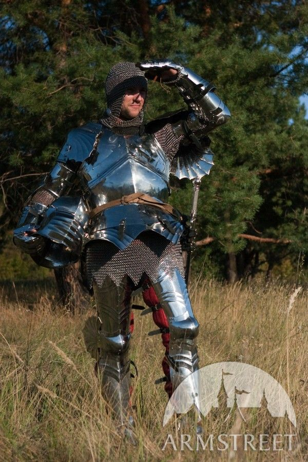 Medieval full SCA harness wearable functional knight armor ... Medieval Knights Armor