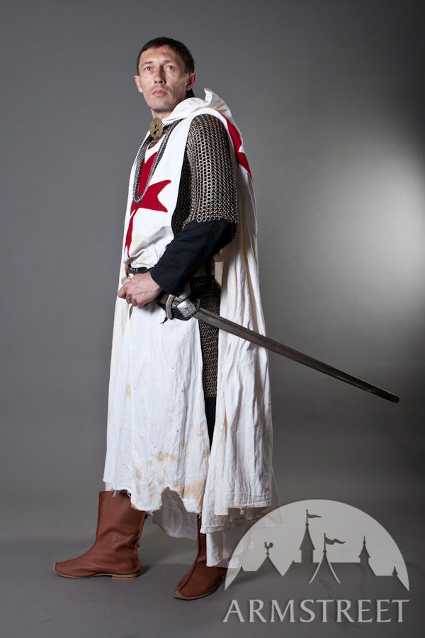 Crowns For Sale >> Medieval knight crusader cloak for sale. Available in: white cotton, black cotton, new ...