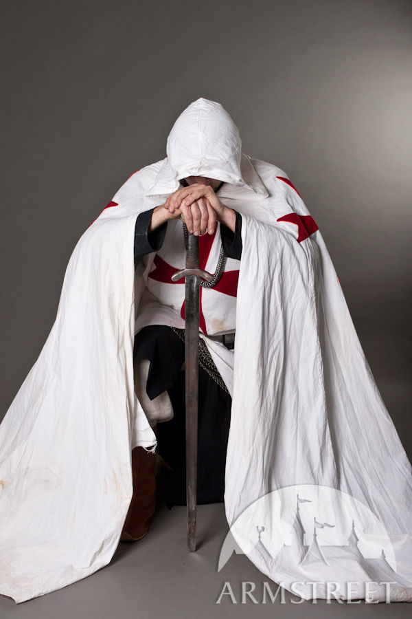 Turkey For Sale >> Medieval knight crusader cloak for sale. Available in: white cotton, black cotton, new ...