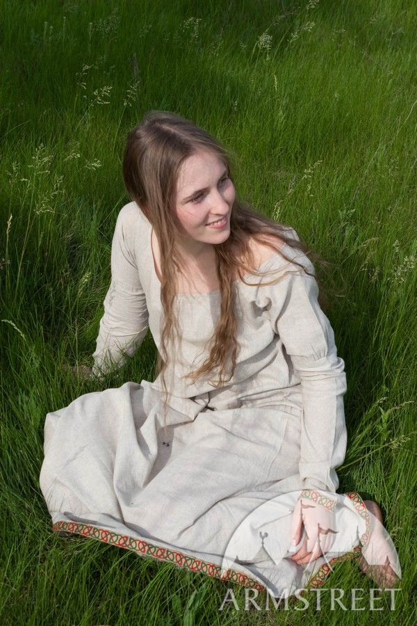 Full Dark Ages North Europe Women S Medieval Travel Dress
