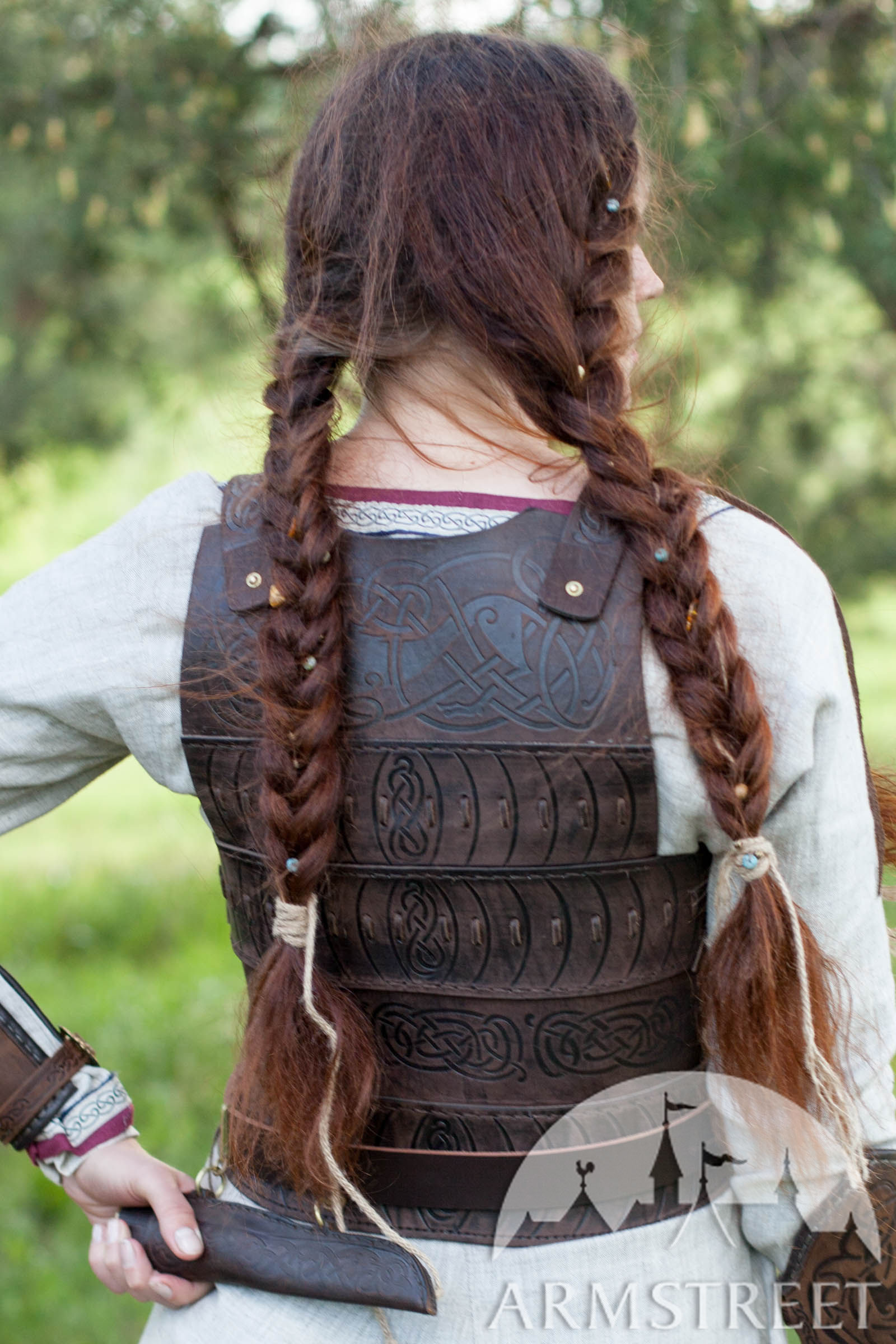 womens leather corset armor quotshieldmaidenquot available in