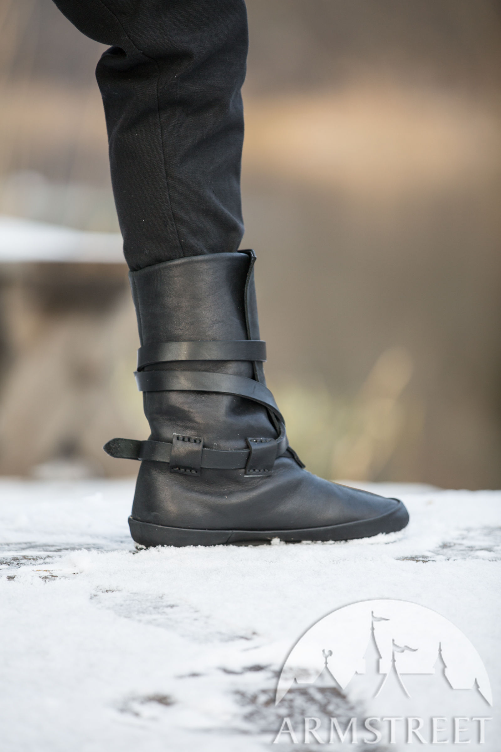 Leather Viking Boots Ragnvaldur The Traveller For Sale