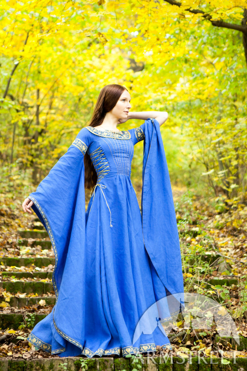 """Blue medieval dress """"Lady of the Lake"""". Available in ..."""