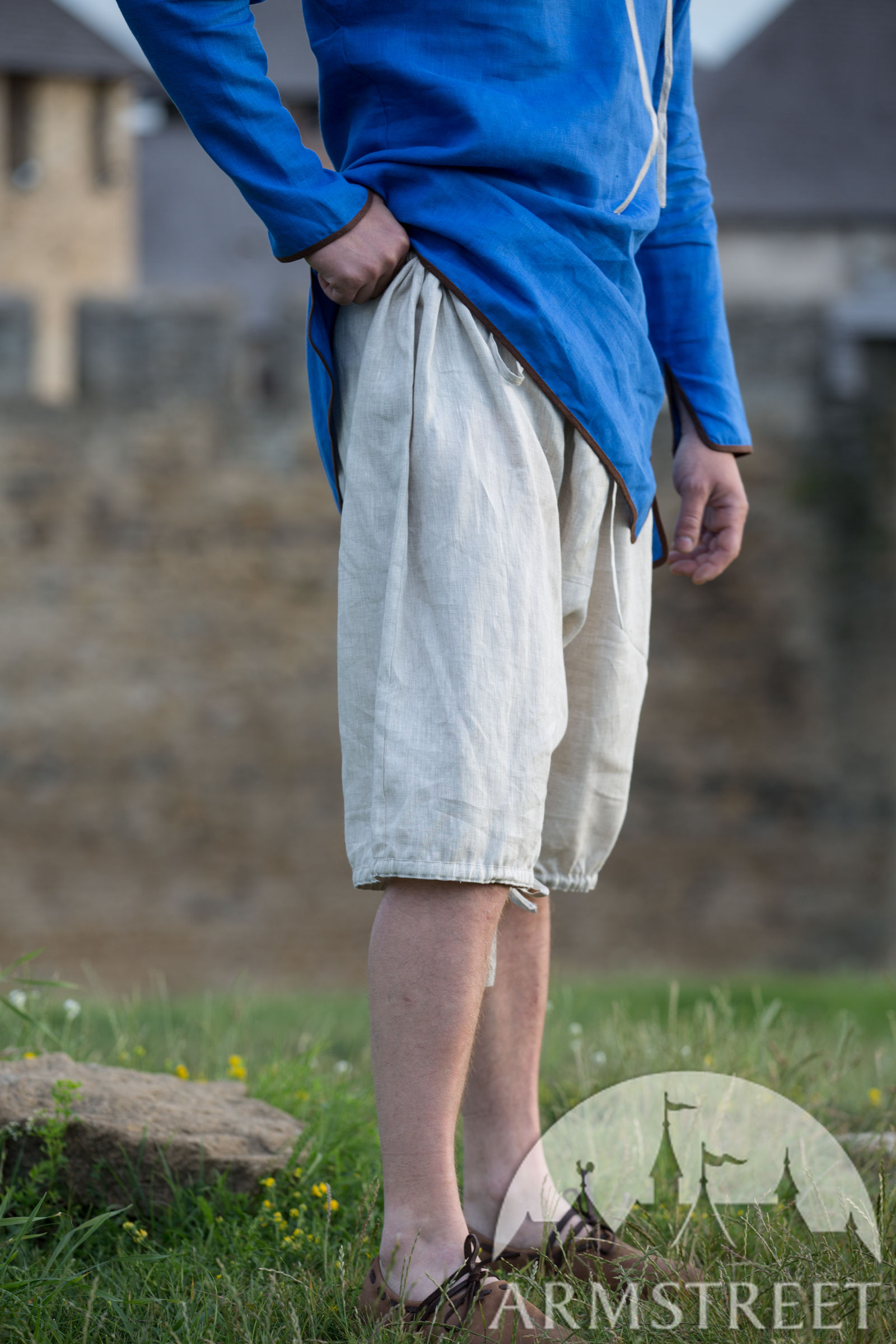Linen medieval men's underpants for sale. Available in