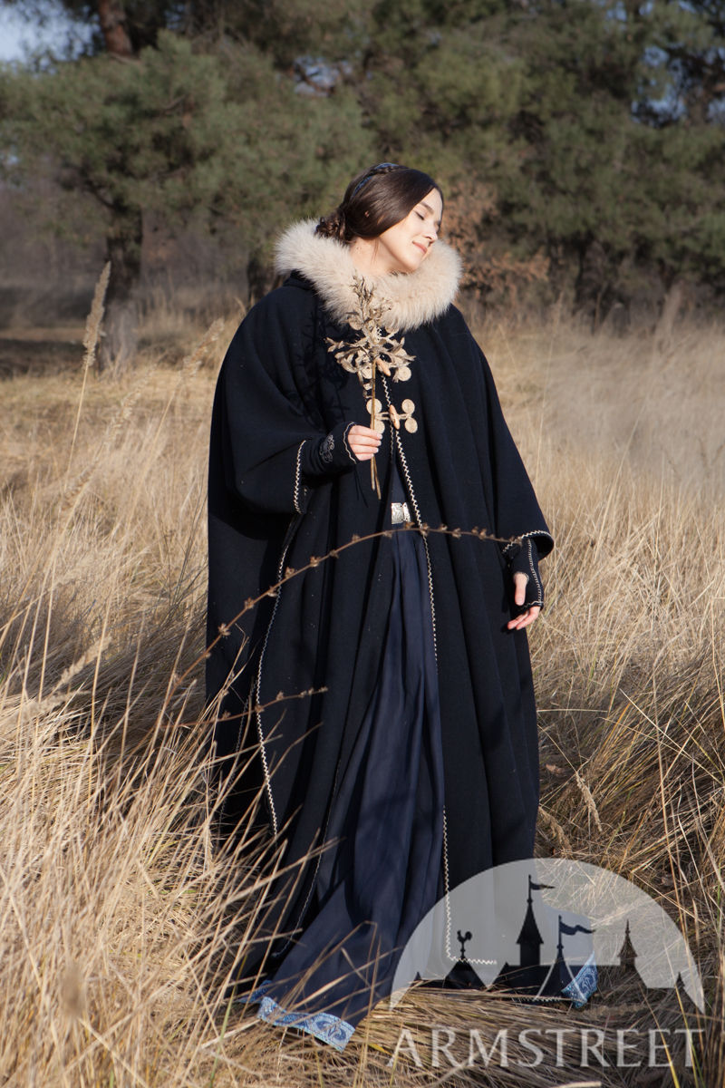 lost princess cloak cape available in red wool black wool ivory
