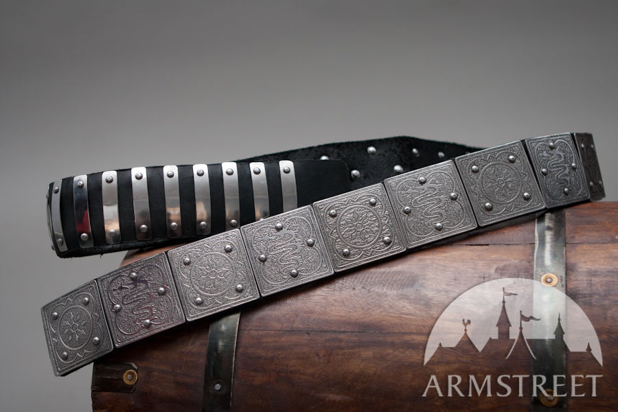 milanese knight armor medieval belt for sca and