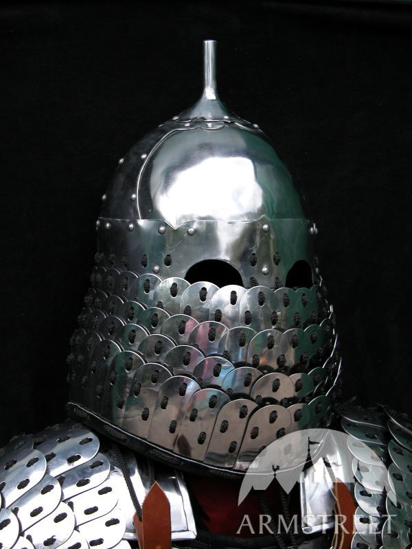 medieval-asian-lamellar-helm-helmet-armor