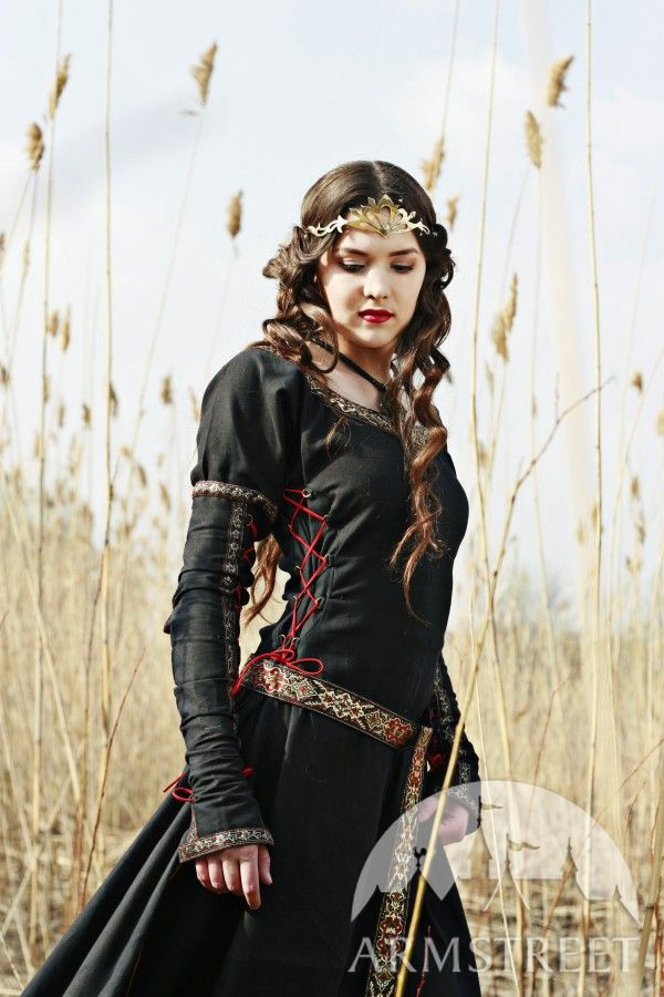 Medieval Black Cotton Dress Quot Lady Hunter Quot Available In