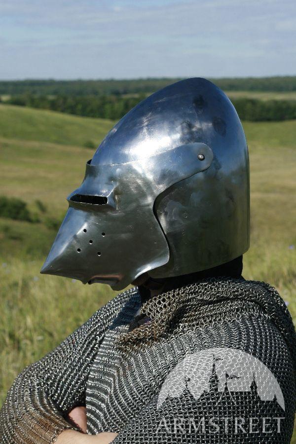 Medieval Helm Bascinet Sca Armour Sca Helm For Sale
