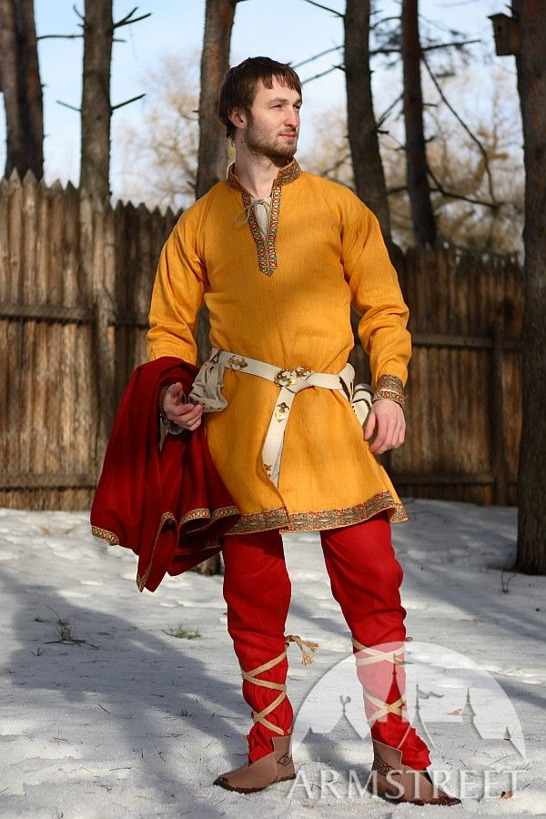 Flax Linen Medieval Dark Ages North Europe Tunic For Sale