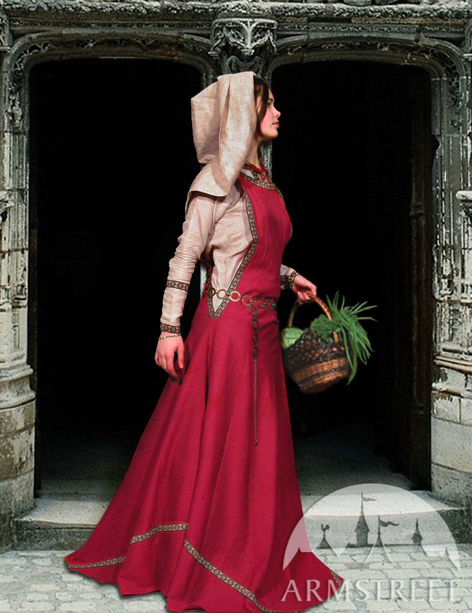Medieval costume set chemise surco and ladies hat best sellers for