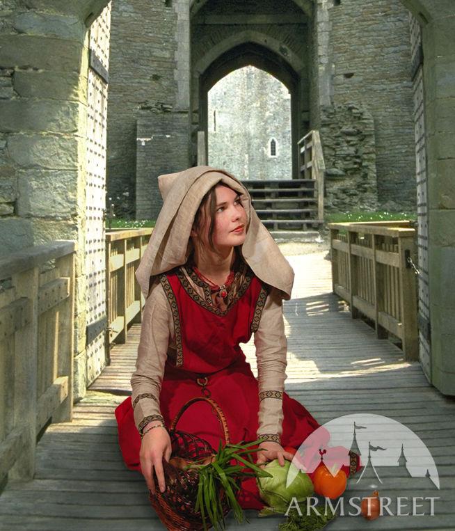 Medieval Costume Set Chemise Surco And Ladies Hat Best