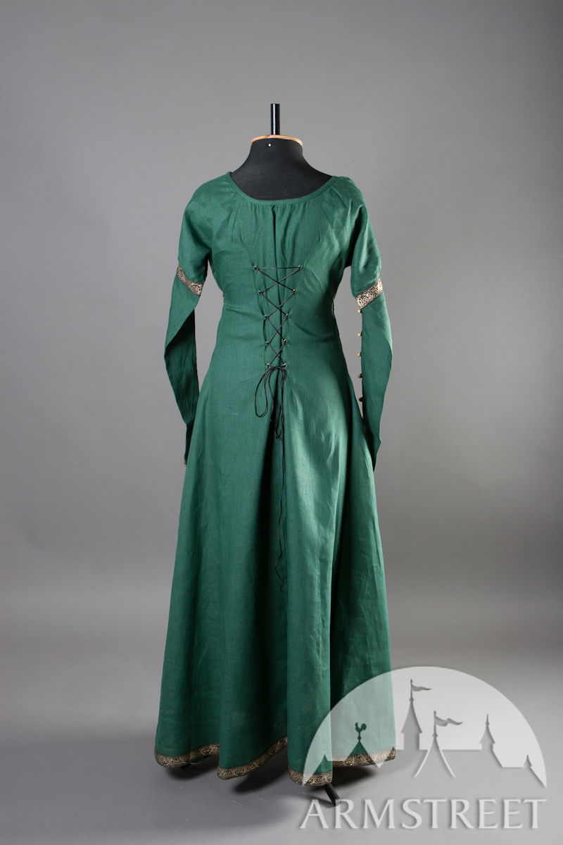 This is an elegant natural flax linen dress. Actually