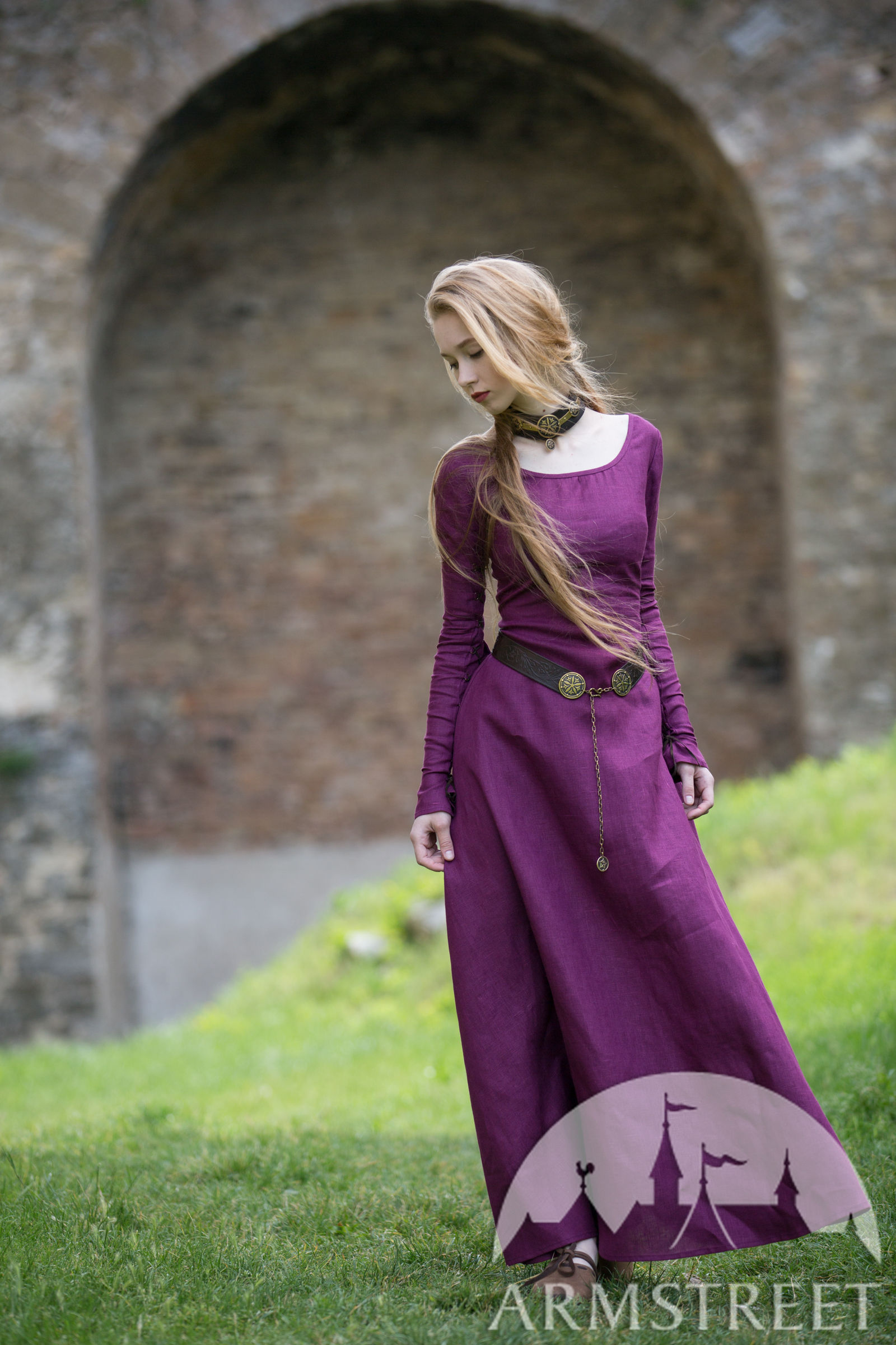 34ed1375a809c Original natural flax linen medieval style dress for sale. Available ...