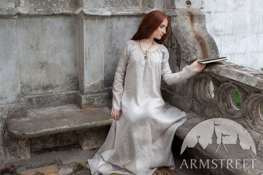 "Medieval Dress ""Greensleeves"" for Noblewomen   Available in: ivory"