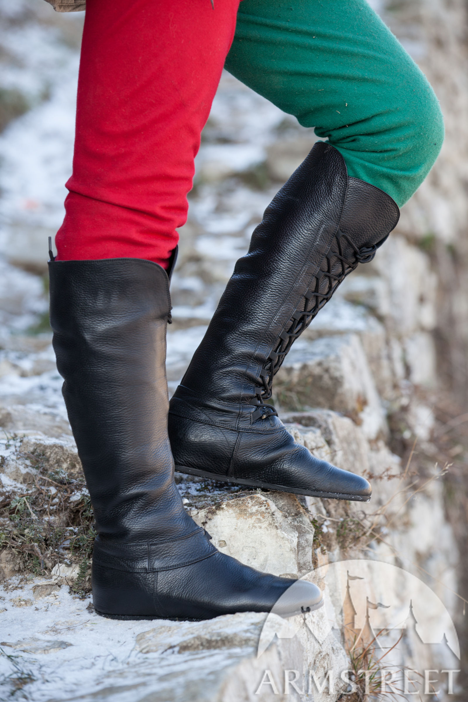 """3042fbff10ab3 Medieval Fantasy High Boots """"Forest"""""""