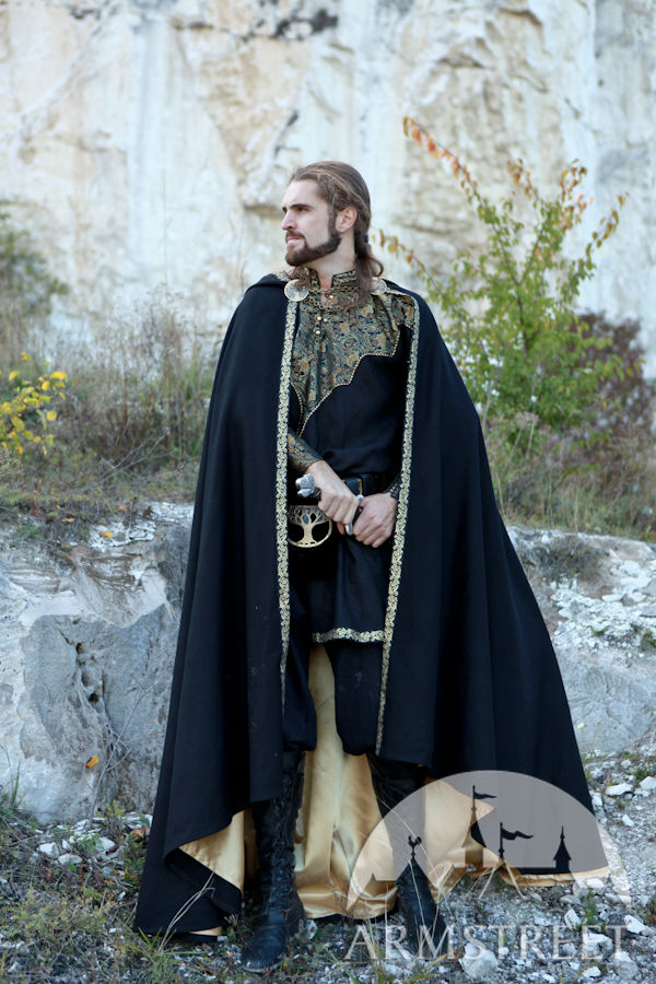 "Medieval Fantasy Lined Cloak ""Knight of the West"" 