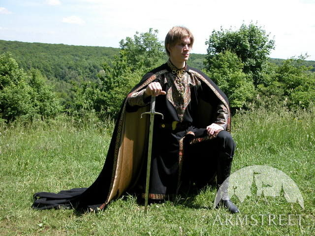 Medieval fantasy cloak with satin lining  quot Elven Prince quot Fantasy Young Prince