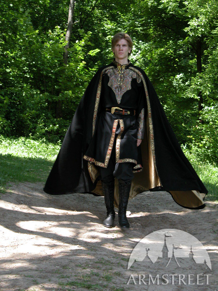 This Is Great 1 2 Round Wool Medieval Black Cloak With