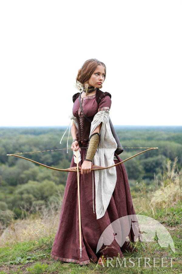 """""""Archeress"""" flax linen medieval garb: dress, chemise and ..."""